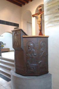 Die Kanzel der Thomaskirche