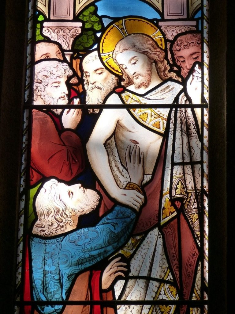 Fenster mit Jesus