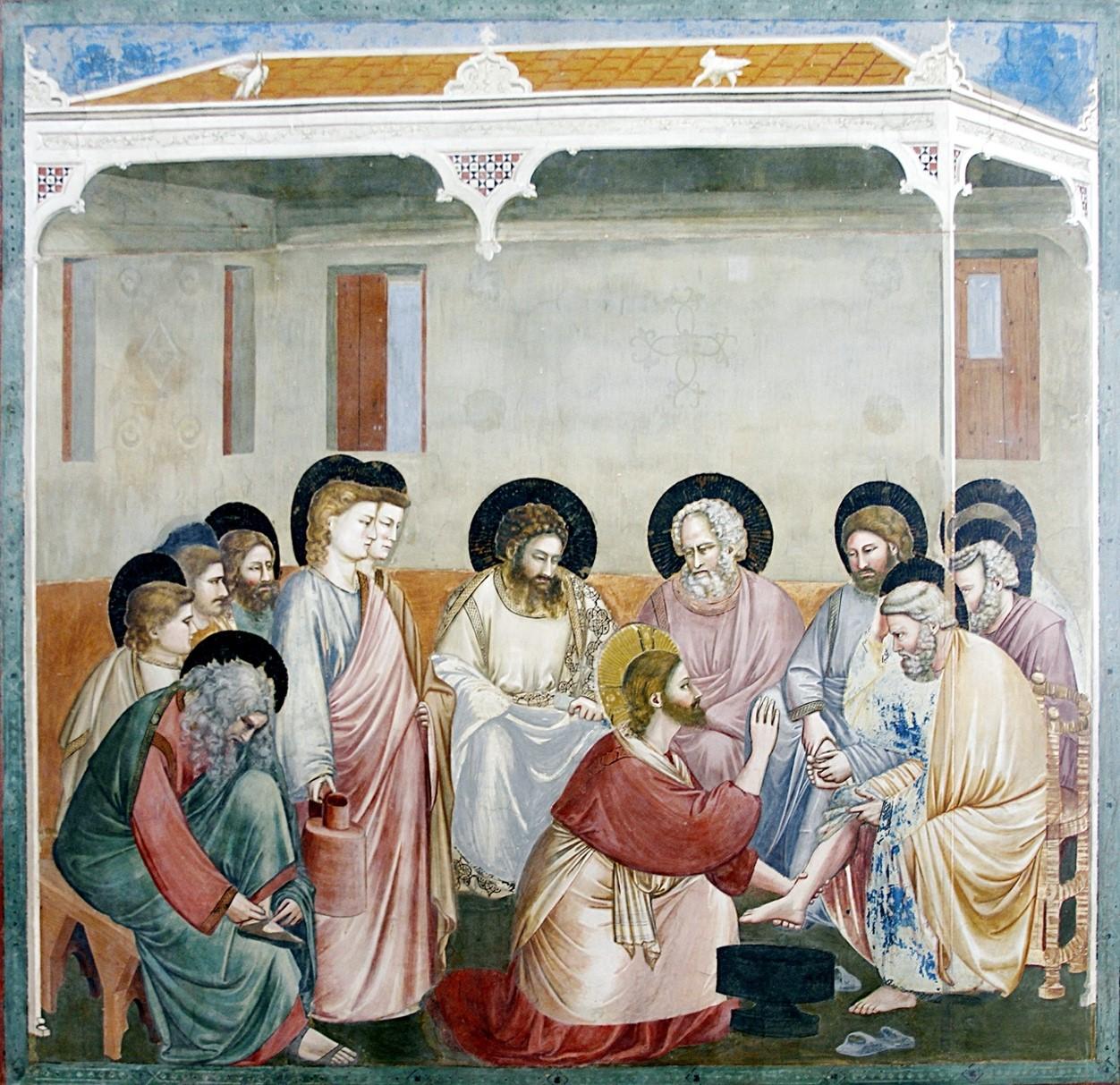 Jesus wäscht den Jüngern die Füße